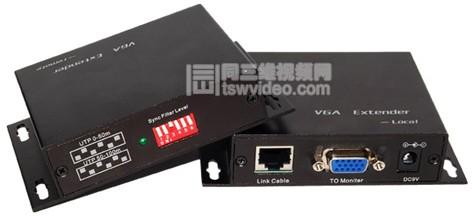 VGA双绞线延长器VGA转网线+音频传输器