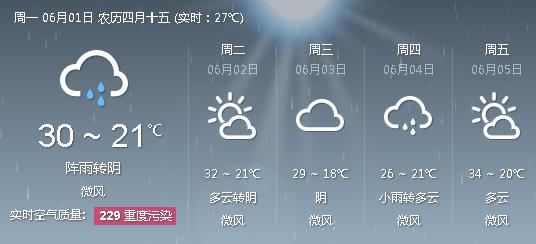 郑州天气预报 河南一周天气
