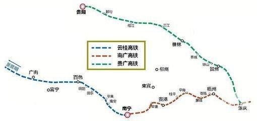 全线开通 云桂高铁路线图图片